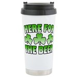 Here for the Beer Shamrock Ceramic Travel Mug
