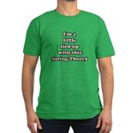 Tied Up String Theory Men's Fitted T-Shirt (dark)
