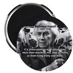 "Bertrand Russell Philosophy 2.25"" Magnet (10 pack)"