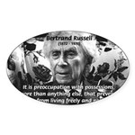 Bertrand Russell Philosophy Oval Sticker
