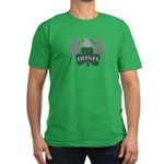 Irish Shamrock Celtic Cross Men's Fitted T-Shirt (