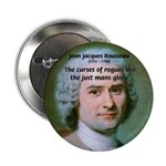 "French Philosopher Rousseau 2.25"" Button (100 pack"