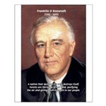 American President FDR Small Poster