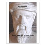Greek Mathematician Pythagoras Small Poster