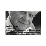 Philosophy Karl Popper Rectangle Magnet (100 pack)