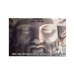Plato: Wisdom Knowledge Play Rectangle Magnet (100