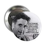 "Politics / Language: Orwell 2.25"" Button (100 pack"