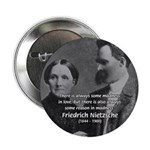 "Nietzsche Love Madness Reason 2.25"" Button (10 pac"
