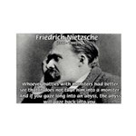 Christian Morality / Nietzsche Rectangle Magnet (1