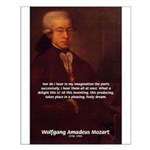 Mozart's Work: Symphony, Piano Small Poster