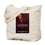 Mozart's Work: Symphony, Piano Tote Bag