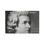 Music, Genius and Mozart Rectangle Magnet (100 pac