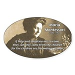 Maria Montessori Education Oval Sticker