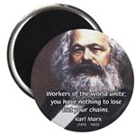 "Union of Workers: Marx 2.25"" Magnet (100 pack)"
