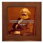 Power of Change Karl Marx Framed Tile