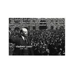 Vladimir Lenin Revolution Rectangle Magnet (100 pa