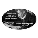 Truth Existentialist Kierkegaard Oval Sticker