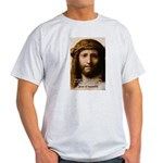 Jesus Peace and Love Ash Grey T-Shirt
