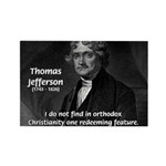 President Thomas Jefferson Rectangle Magnet