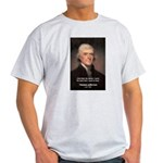 Work and Luck Jefferson Ash Grey T-Shirt