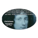 Huygens Combination Oval Sticker