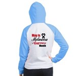May is Melanoma Month Women's Raglan Hoodie
