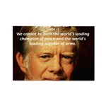 War and Peace: Jimmy Carter Rectangle Magnet (100