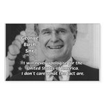 Politics George W. Bush Snr Rectangle Sticker