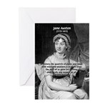 Women in History Jane Austen Greeting Cards (Packa