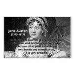 Women in History Jane Austen Rectangle Sticker