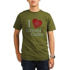 I Love Edward Cullen Organic Mens Dark T-Shirt
