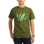 Crazy Swamp Frog Organic Men's T-Shirt (dark)