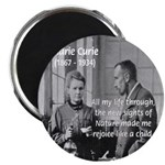 Marie Curie Physics Liberty Magnet