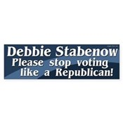 Liberal Anti-Stabenow Bumper Sticker