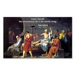 Know Thyself Socrates Quote Rectangle Sticker