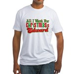 Christmas Edward Fitted T-Shirt