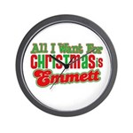 Christmas Emmett Wall Clock