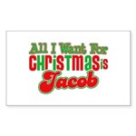 Christmas Jacob Rectangle Sticker 50 pk)