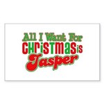 Christmas Jasper Rectangle Sticker 50 pk)