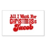 Christmas Jacob Rectangle Sticker 10 pk)