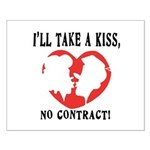Kiss No Contract Small Poster