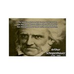Arthur Schopenhauer Rectangle Magnet (10 pack)