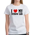 I Love My Yellow Lab Women's T-Shirt