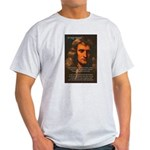 Sir Isaac Newton Space Ash Grey T-Shirt
