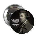 Edmund Burke: Good & Evil Button