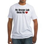 Heart Owning Rescue Lab Fitted T-Shirt