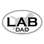 LAB DAD II Oval Sticker
