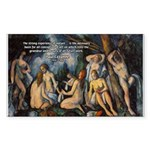 Cezanne Landscape Nude Rectangle Sticker