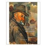 Cezanne Emotion Artistic Quote Small Poster