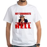"""No Virgins In Hell"" White T-Shirt"